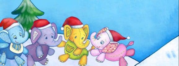święty Mikołaj w 4 słoniach