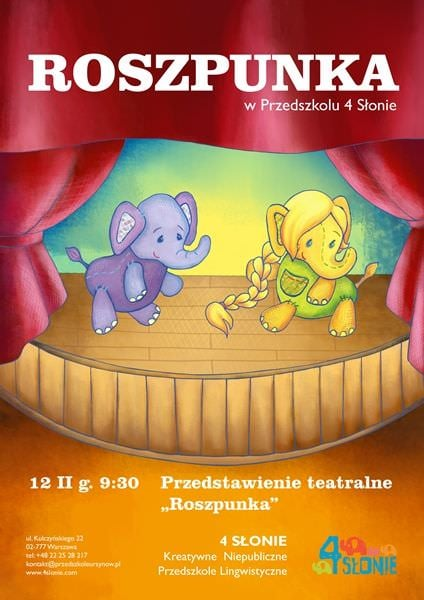 12 II 2015, godz. 9:30 – Roszpunka - Przedstawienie grupy teatralnej Echo