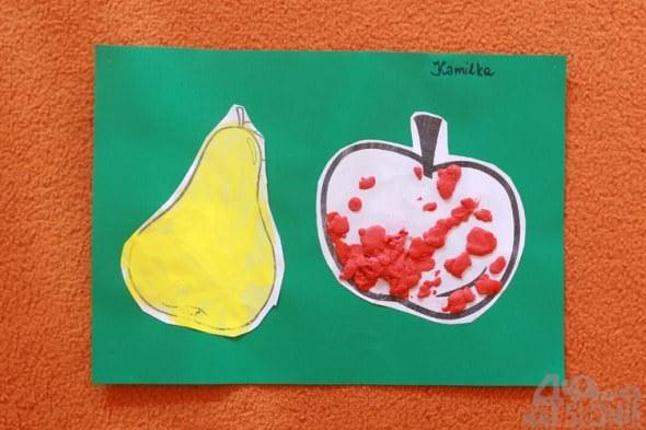 jabłuszko i gruszka, prace przedszkolaków