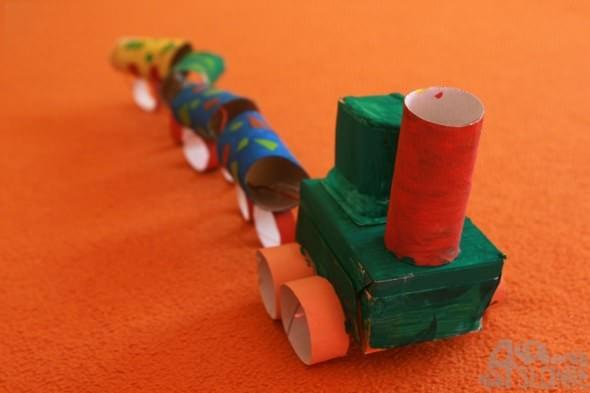 Pociąg, prace przedszkolaków