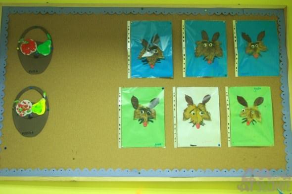 Jesienny lisek, prace przedszkolaków