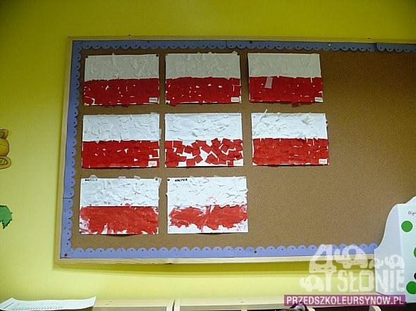Flaga polski - grupa przedszkolna i żłobkowa