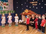 Świąteczne spotkanie z rodzicami i Opowieścią Wigilijną w Przedszkolu 4 Słonie. Fot. Anita Kot