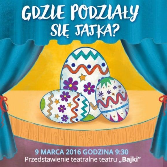 Przedstawienie pt. Gdzie się podziały jajka - Teatr Bajki. 9 marca 2016 r. godz. 9:30