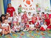Dzień kibica w Przedszkolu 4 Słonie. 30 czerwca 2016 r. Fot. Anita Kot