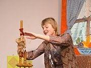 Teatr Bajki przedstawia spektakl pt. Pani Zamieć. 12 I 2017 r. Fot. Anita Kot