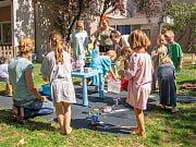 Dzień brudnych zabaw w Przedszkolu 4 Słonie. Lipiec 2019 r.