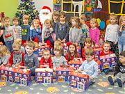 Wizyta Świętego Mikołaja w Przedszkolu 4 Słonie. Grudzień 2019 r.